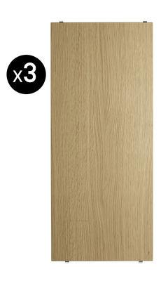 Arredamento - Scaffali e librerie - Scaffale String® System - / L 58 cm - Set da 3 di String Furniture - Rovere - Compensato di rovere