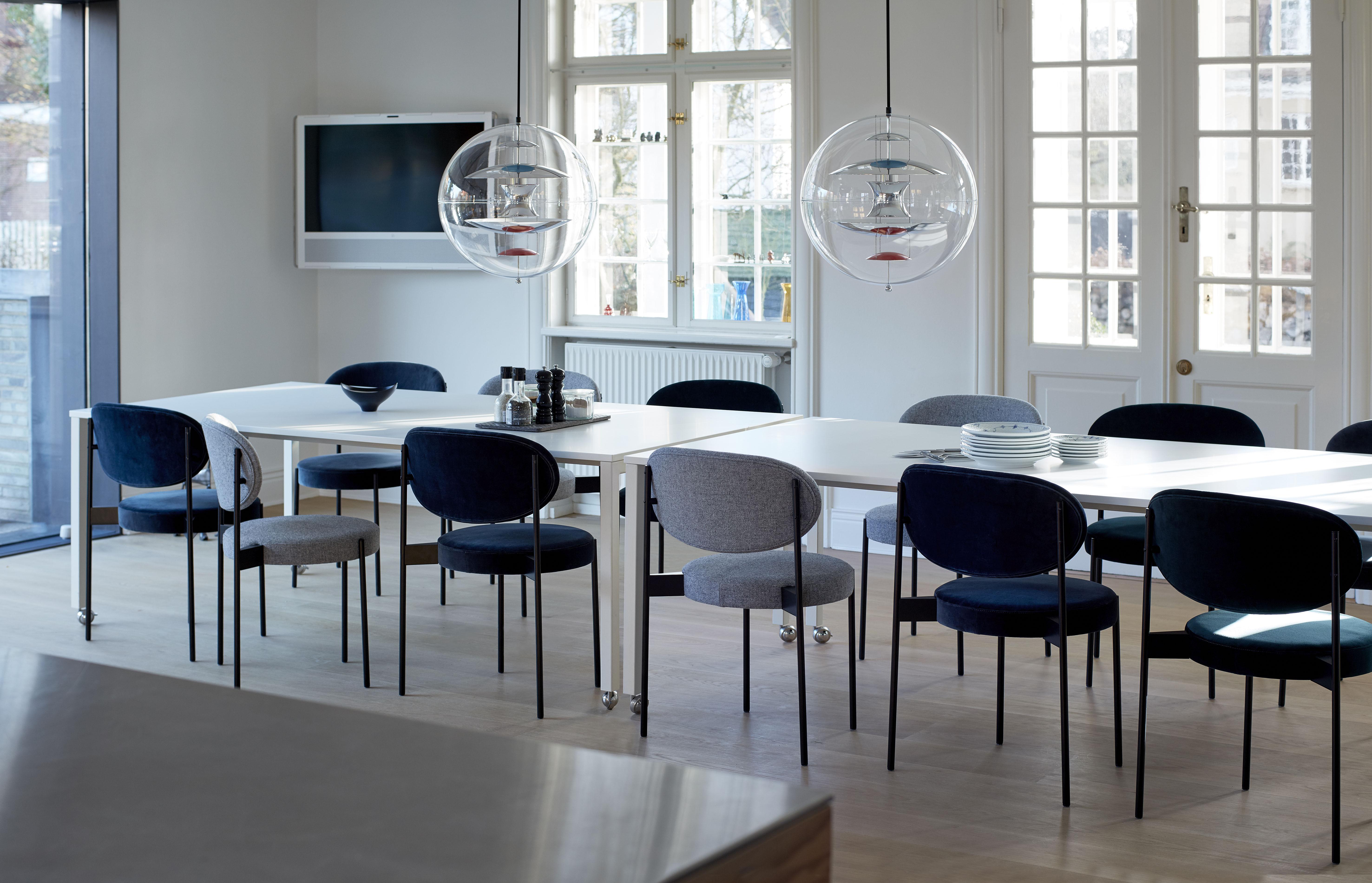 Sedia Imbottita Design : Series 430 sedia imbottita impilabile tessuto & metallo grigio