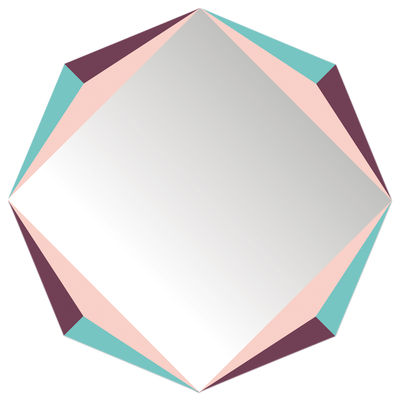 Decoration - Mirrors - The Octagon self-sticking mirror - 48 x 48 cm by Domestic - The Octagon / Multicolored - Plastic