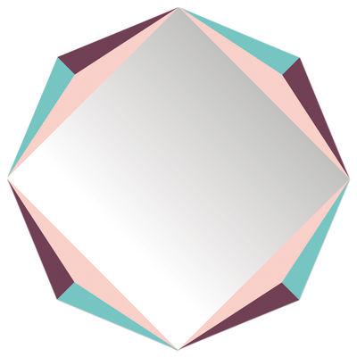 Interni - Specchi - Specchio autocollante The Octagon - / Autodesivo - 48 x 48 cm di Domestic - The Octagon / Multicolore - Plexiglas