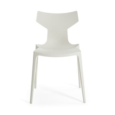 Furniture - Chairs - Re-Chair Stacking chair - / Recycled material by Kartell - White - Recycled thermoplastic technopolymer