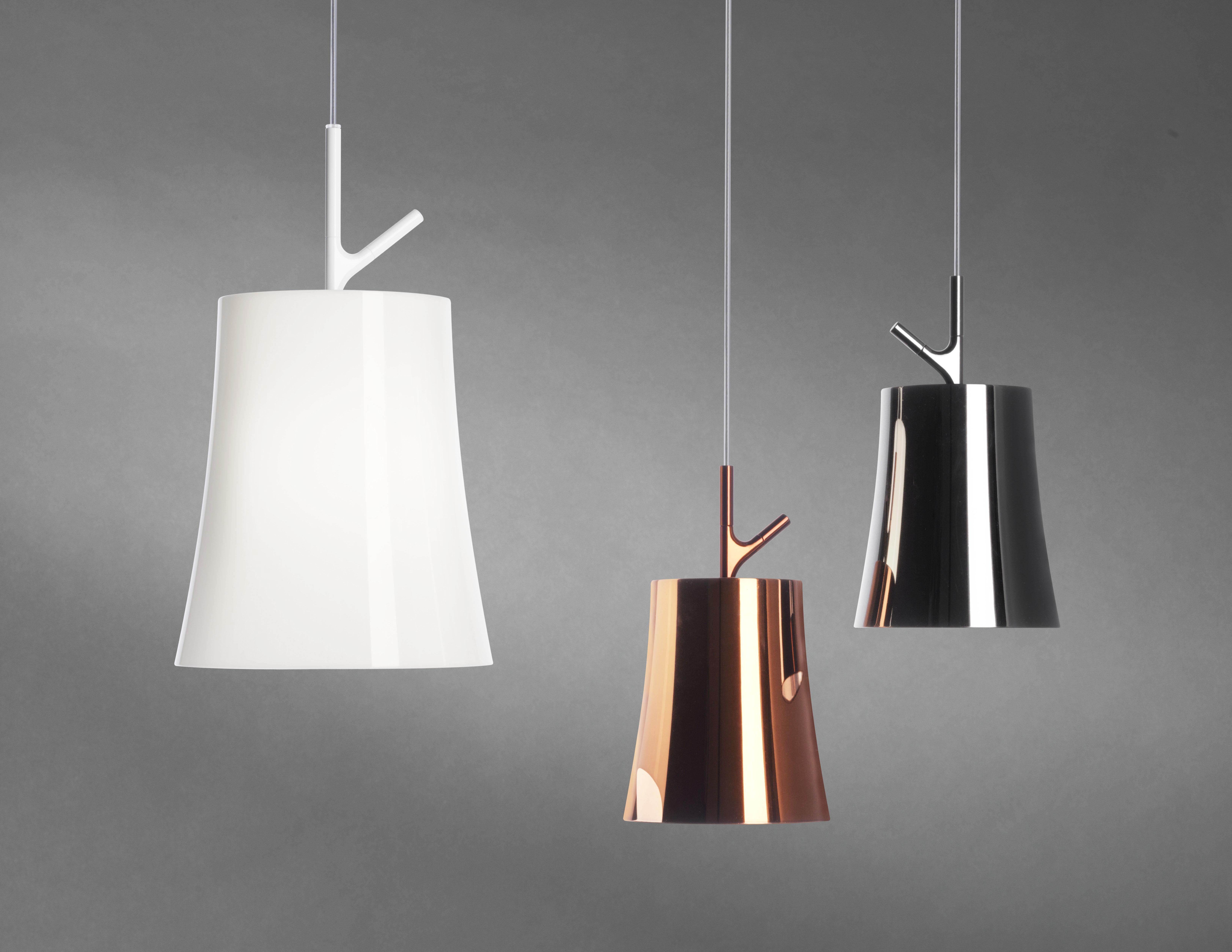 suspension birdie piccola 17 cm cuivre foscarini. Black Bedroom Furniture Sets. Home Design Ideas