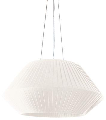 Suspension Ruban Ø 90 cm - Dix Heures Dix blanc en tissu
