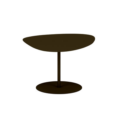 Table basse Galet n°2 INDOOR / 58 x 75 x H 39 cm - Matière Grise marron/métal en métal