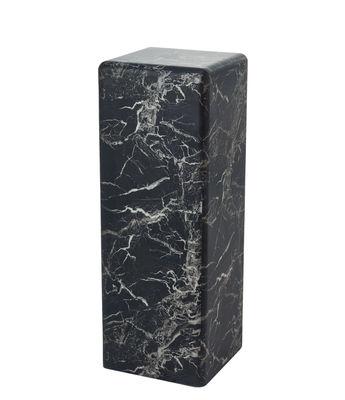 Table d'appoint Marble look Large / H 91 cm - Effet marbre - Pols Potten noir en matériau composite