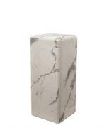 Table d'appoint Marble look Medium H 76 cm Effet marbre Pols Potten blanc en matériau composite