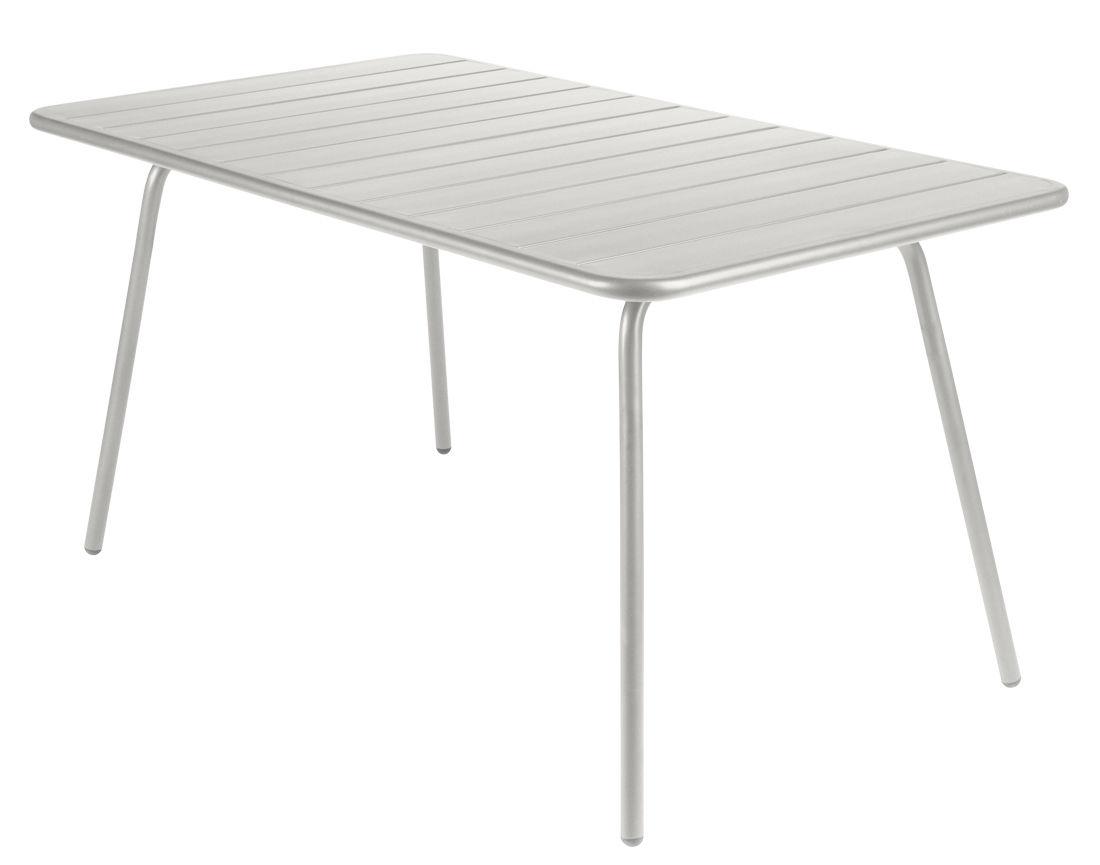 Outdoor - Tables de jardin - Table rectangulaire Luxembourg / 6 personnes - 143 x 80 cm - Aluminium - Fermob - Gris métal - Aluminium laqué