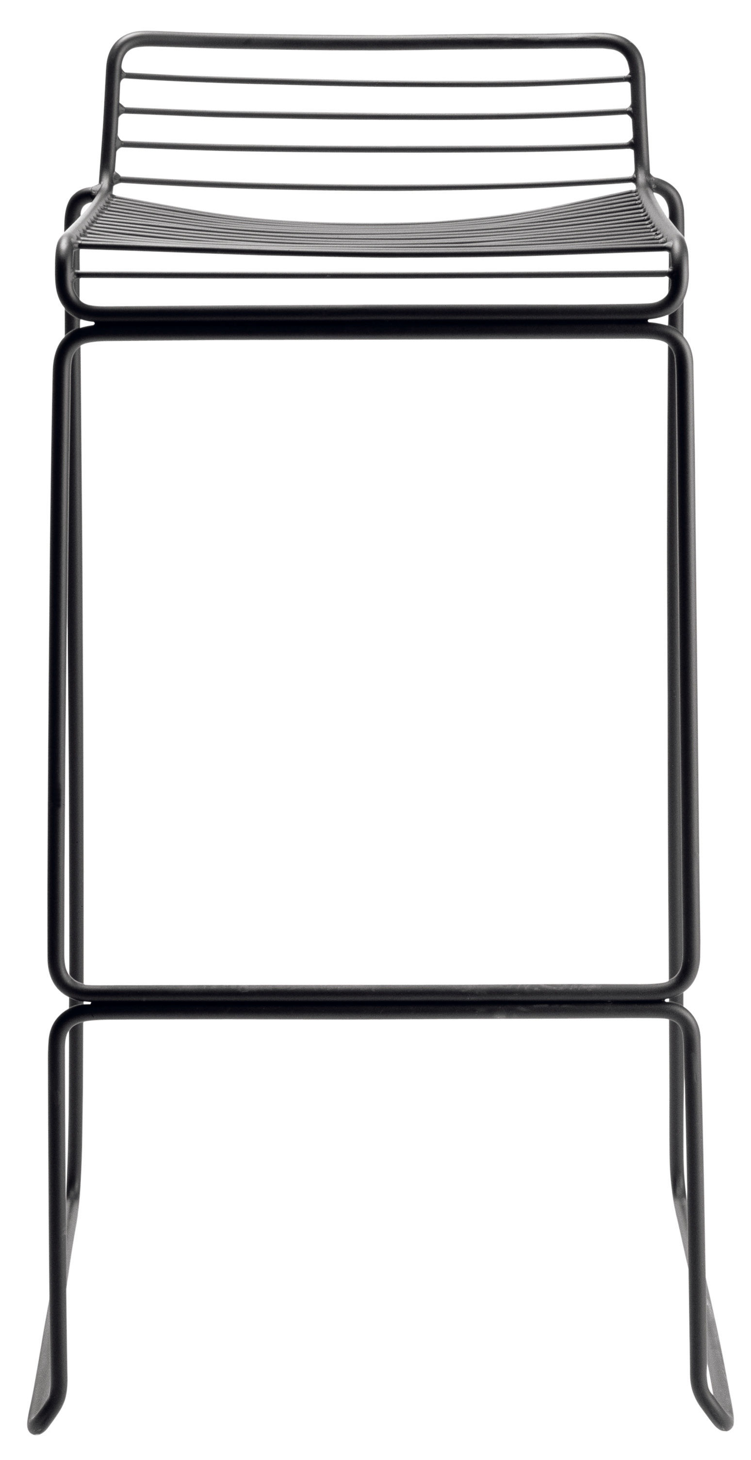 Mobilier - Tabourets de bar - Tabouret de bar Hee / H 75 cm - Métal - Hay - Noir - Acier laqué