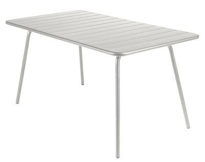 Outdoor - Tavoli  - Tavolo rettangolare Luxembourg - rettangolare - 6 persone - L 143 cm di Fermob - Grigio metallo - Alluminio laccato