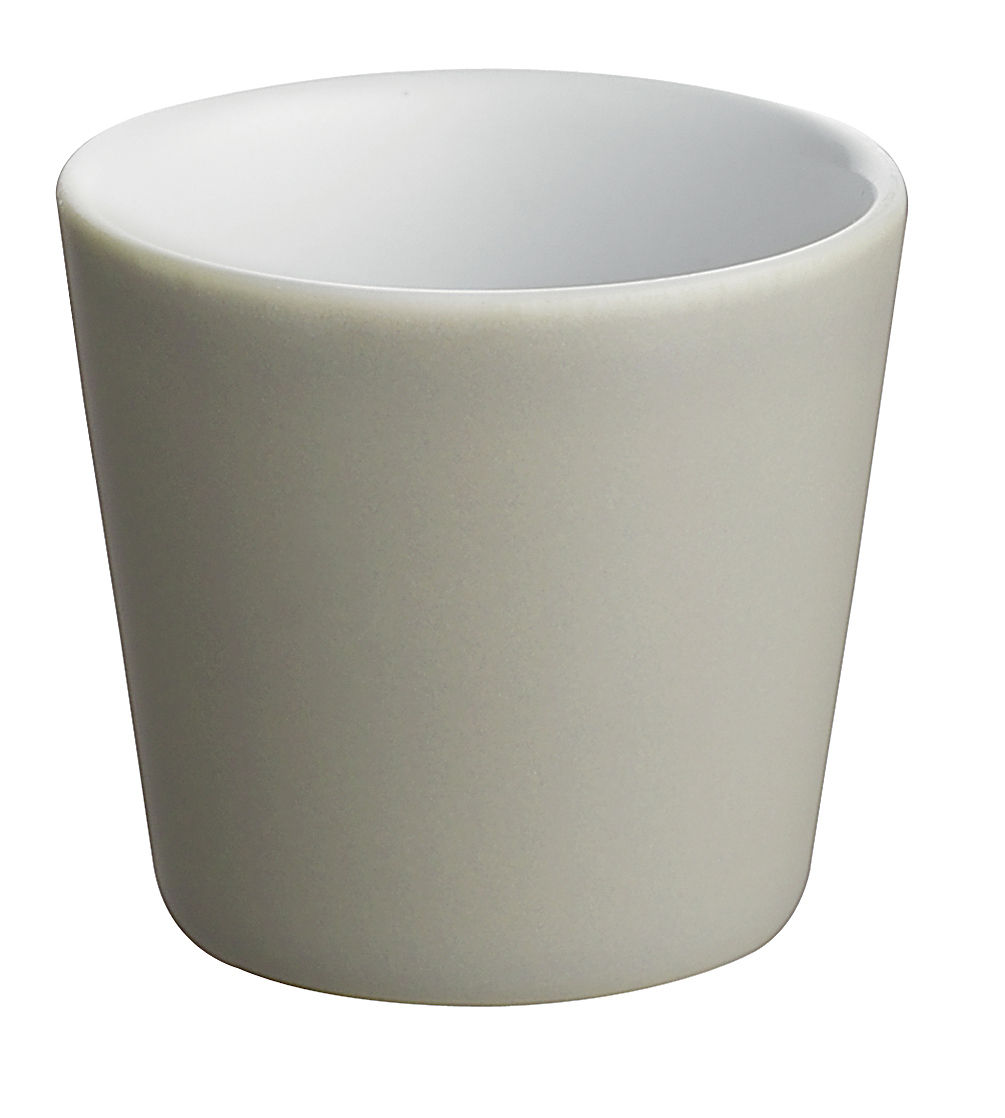 Arts de la table - Tasses et mugs - Tasse expresso Tonale / 8 cl - Alessi - Gris clair / intérieur blanc - Céramique Stoneware