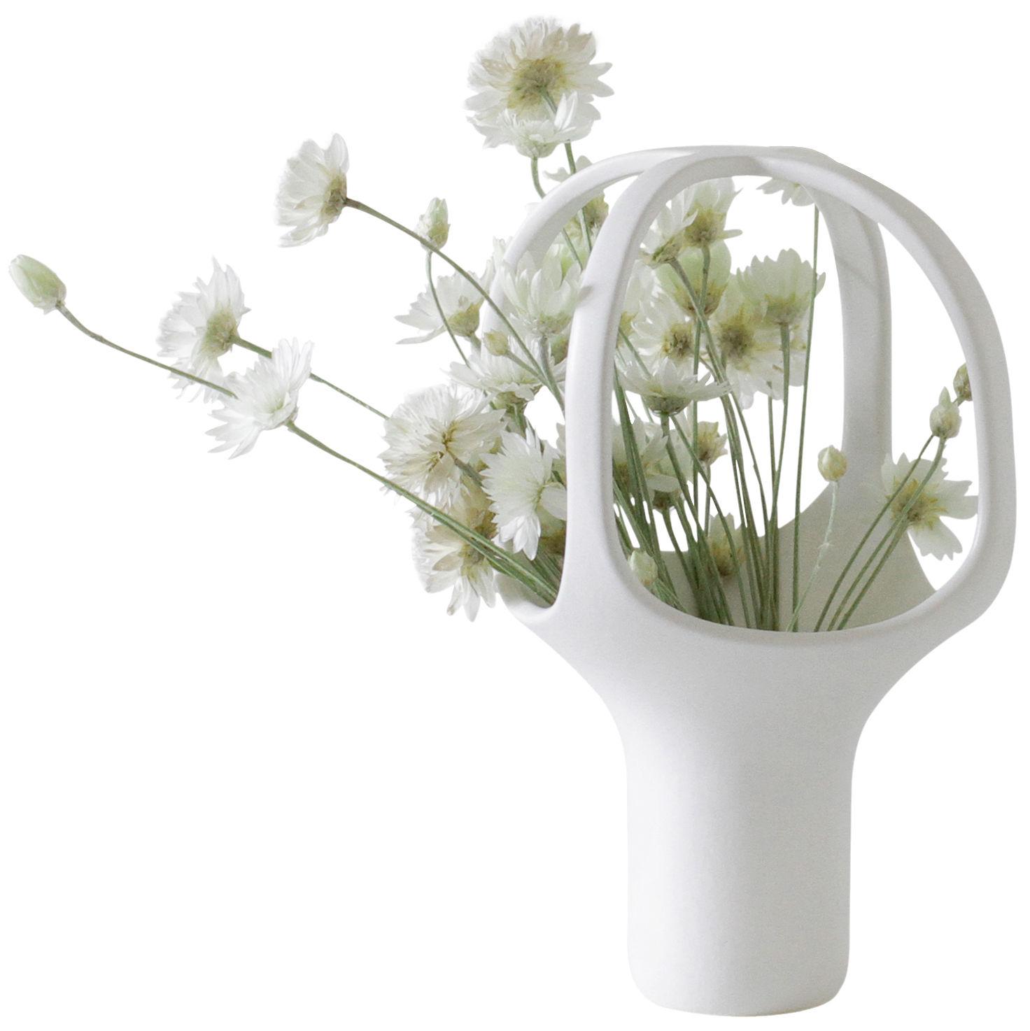 Dekoration - Vasen - Heirloom n°1 Vase / H 25 cm - Moustache - Weiß - Keramik