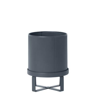 Outdoor - Vasi e Piante - Vaso per fiori Bau Small - / Ø 18 cm - Metallo di Ferm Living - Blu scuro - Acciaio galvanizzato