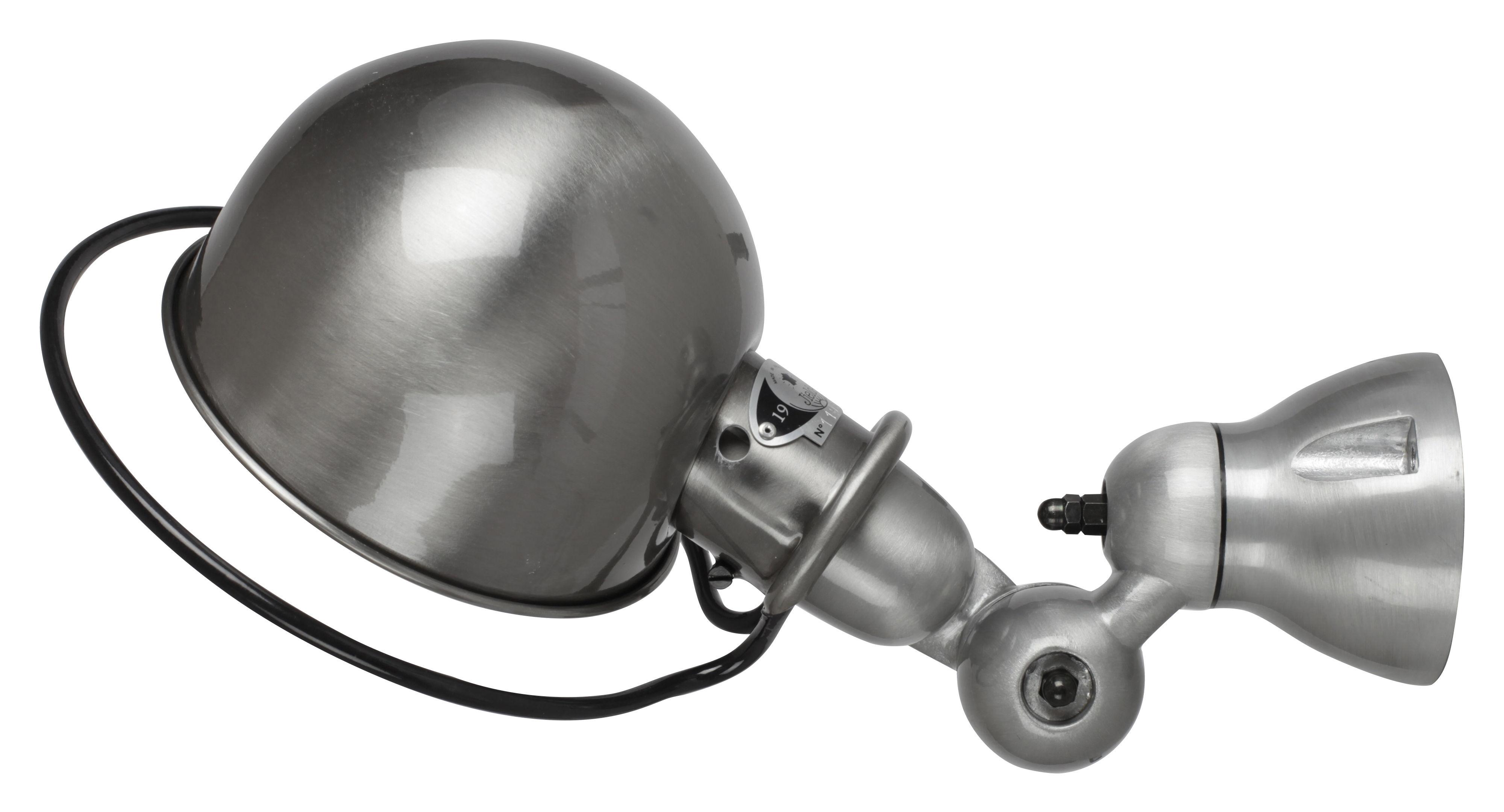Leuchten - Wandleuchten - Loft Wandleuchte Ø 15 cm - Jieldé - Edelstahl, gebürstet - gebürsteter rostfreier Stahl, Porzellan