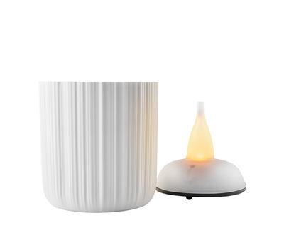 Dekoration - Kerzen, Kerzenleuchter und Windlichter - Windlicht LED / H 9 cm - Eva Solo - H 9 cm / Weiß - Porzellan