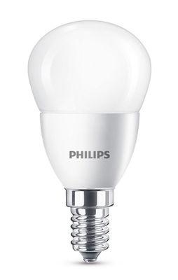 Ampoule LED E14 Sphérique dépolie / 5,5W (40W) - 520 lumen - Philips blanc dépoli en verre