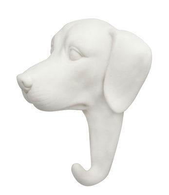 Image of Appendiabiti Chien - / Porcellana di & klevering - Bianco - Ceramica