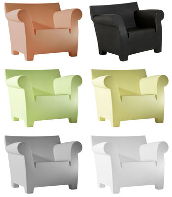 Outdoor Furniture Materials Plastic Garden Bubble Club Armchair By Kartell Black