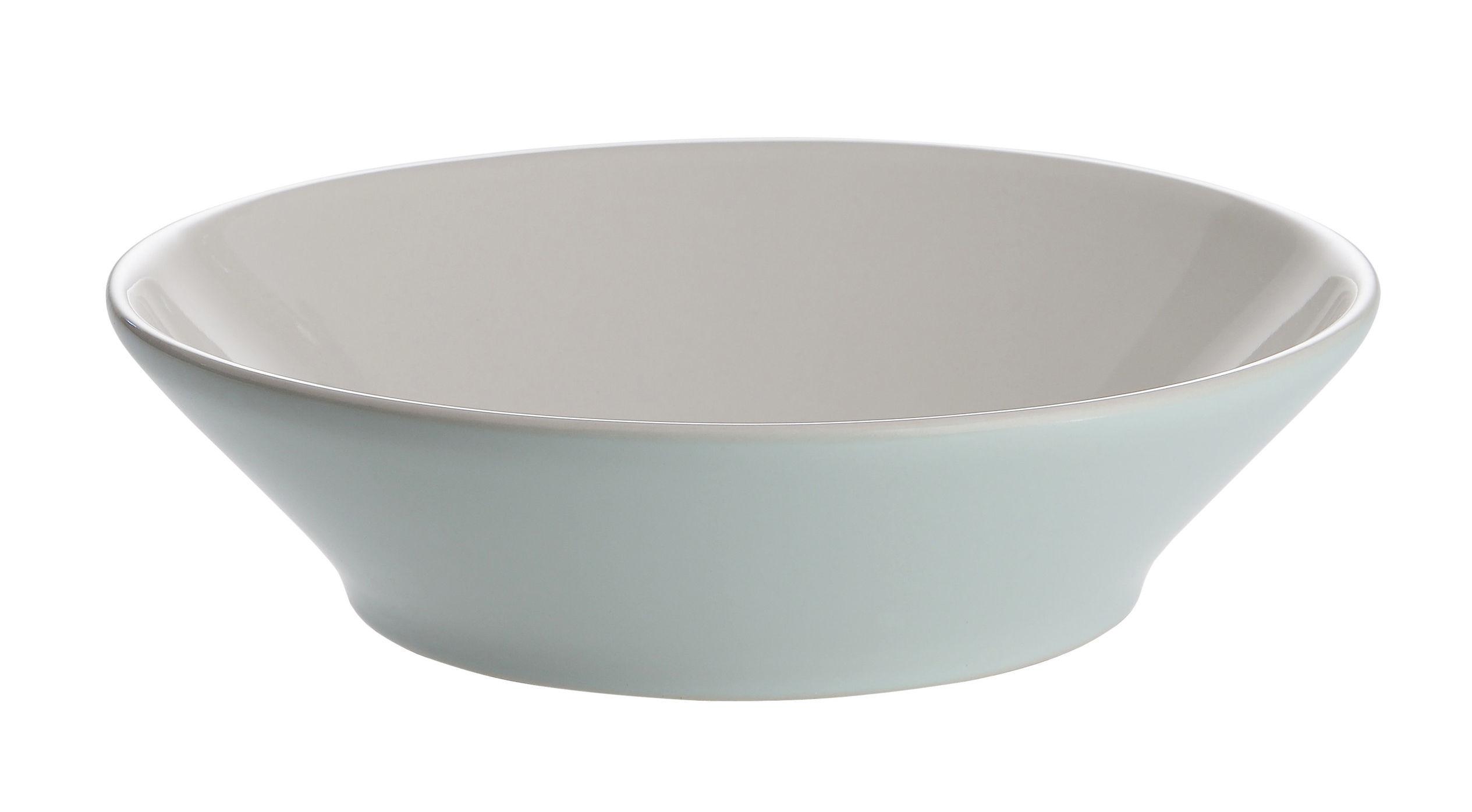 Arts de la table - Assiettes - Assiette à dessert Tonale / Ø 18,5 cm - Alessi - Vert pâle / Intérieur blanc - Céramique Stoneware