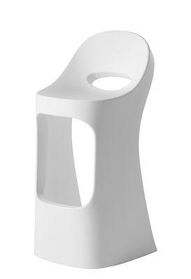 Furniture - Bar Stools - Amélie Sit up Bar stool - / H 70 cm by Slide - White - Polythene