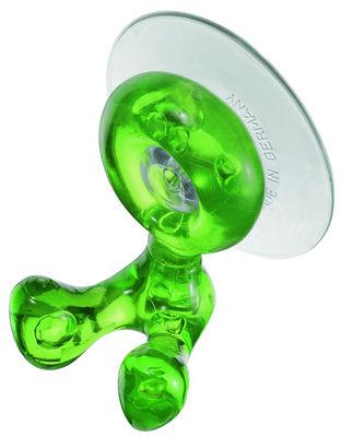 Dekoration - Badezimmer - Tommy Behälter für Zahnbürsten mit Saugnapf - Koziol - Grün transparent - PMMA