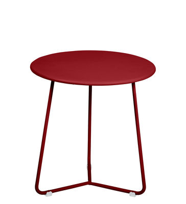 Möbel - Couchtische - Cocotte Beistelltisch / Hocker - Ø 34 cm x H 36 cm - Fermob - Chilli - bemalter Stahl