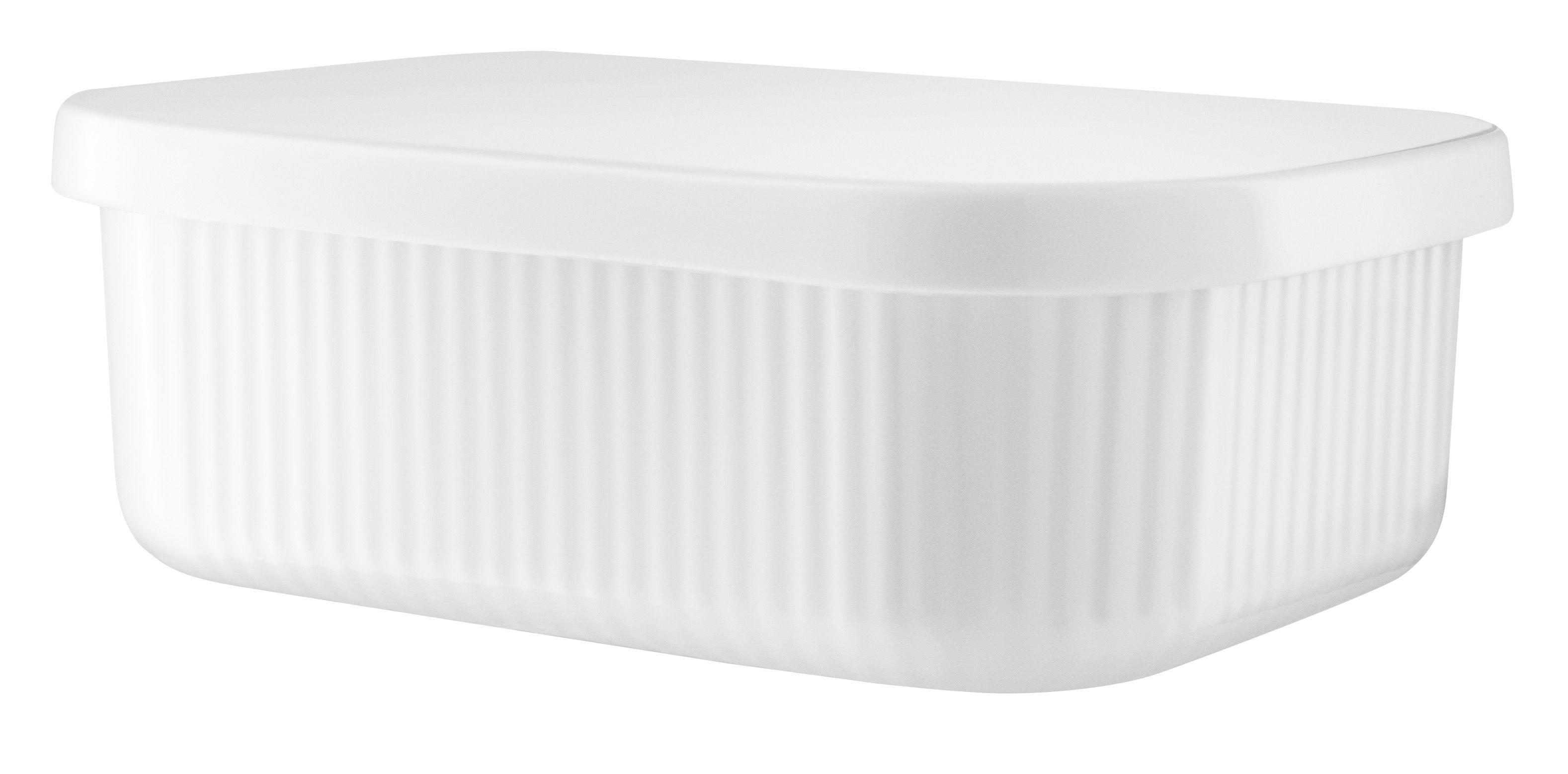 Arts de la table - Accessoires - Beurrier Legio Nova XL / 17 x 12,5 cm - Eva Trio - Large / Blanc - Porcelaine