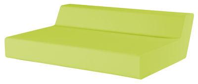 Canapé droit Matrass Seat 150 2 places L 150 x H 20 cm Quinze Milan vert citron en matière plastique