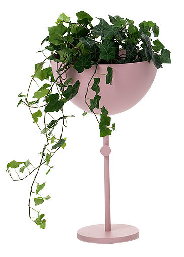 Decoration - Centrepieces & Centrepiece Bowls - Nendo Bowl Sphere Centrepiece - With leg by Wästberg - Pink - Steel