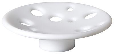 Tavola - Cesti, Fruttiere e Centrotavola - Centrotavola luminoso Dots LED RGB - / Ø 41 cm di Slide - Bianco - polietilene riciclabile