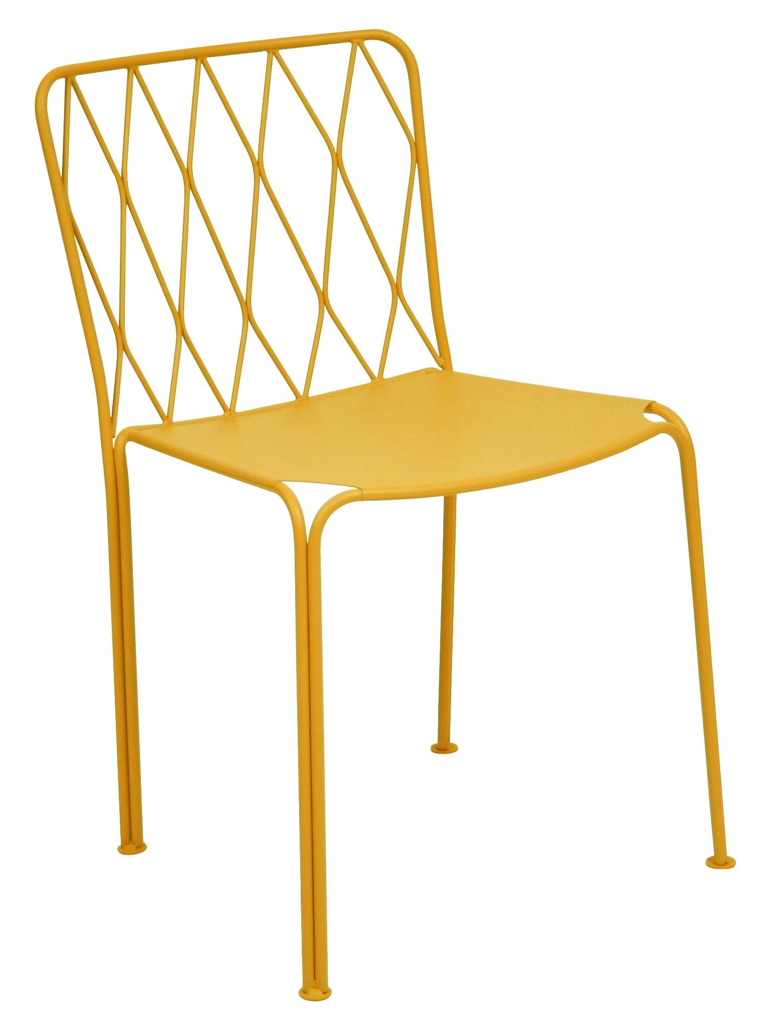 Furniture - Chairs - Kintbury Chair - Metal by Fermob - Honey - Painted steel