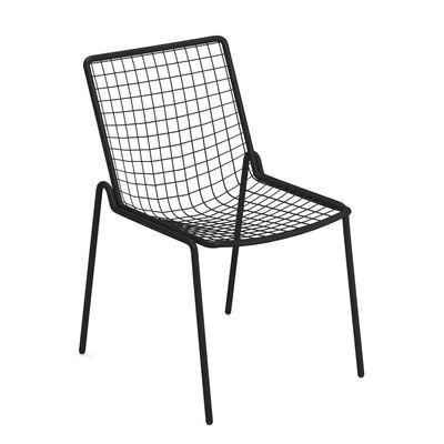 Mobilier - Chaises, fauteuils de salle à manger - Chaise empilable Rio R50 / Métal - Emu - Noir - Acier