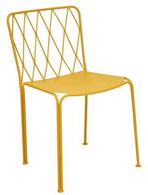 Mobilier - Chaises, fauteuils de salle à manger - Chaise Kintbury / Métal - Fermob - Miel - Acier peint