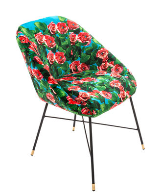 Chaise rembourrée Toiletpaper Roses L 60 cm Seletti multicolore en tissu