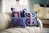 Bargello Twist Cushion - / 40 x 30 cm - Hand-embroidered / Wool & velvet by Jonathan Adler