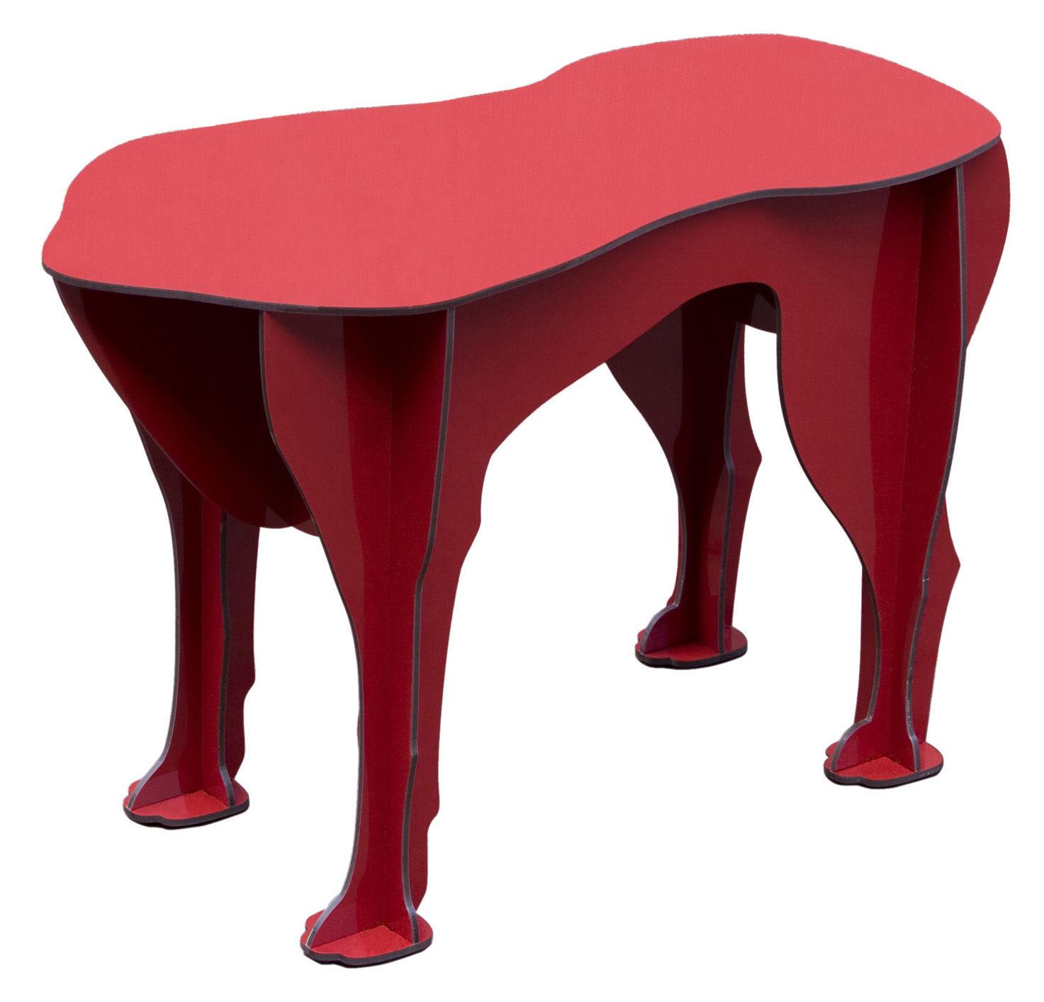 Möbel - Couchtische - Sultan Hocker - Ibride - Rot glänzend - kompakte Press-Spanplatte