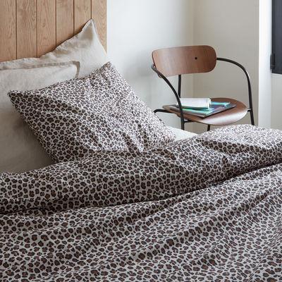 Natale Design - Gli insoliti - copripiumino 140 x 200 cm - / 140 x 200 cm - Percalle di cotone lavato di Au Printemps Paris - Maculato - Percale de coton lavée
