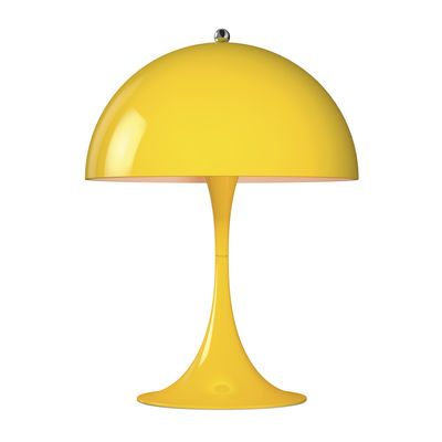 Lampe de table Panthella Mini LED / H 33,5 cm - Métal - Louis Poulsen jaune en métal