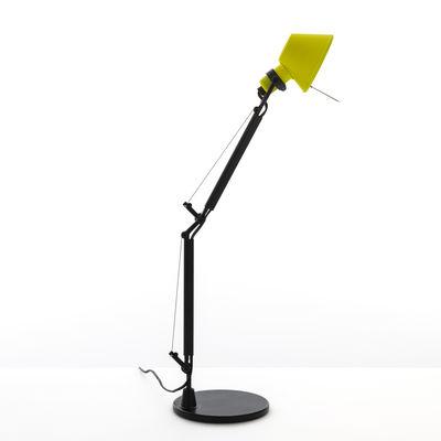 Luminaire - Lampes de table - Lampe de table Tolomeo Micro Bicolor - Artemide - Jaune / Noir - Acier, Aluminium