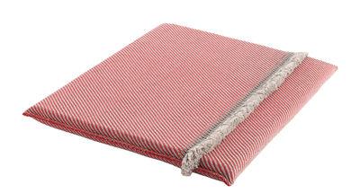 Furniture - Poufs & Floor Cushions - Garden Layers Mattress - / Wide - Handwoven by Gan - Diagonals / Red & almond - Foam rubber, Polypropylene