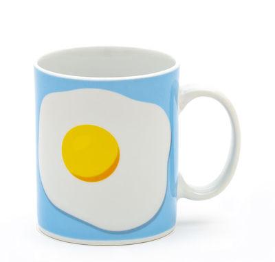 Mug Œuf / Porcelaine - Seletti multicolore en céramique