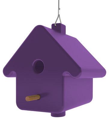 Jardin - Déco et accessoires de jardin - Nichoir à oiseaux Picto / à suspendre - Qui est Paul ? - Violet - Bois, Polyéthylène