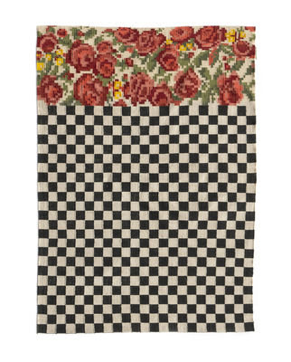 Decoration - Rugs - Oaxaca Outdoor rug - / Hand-woven - 170 x 240 cm by Nanimarquina - 170 x 240 cm / Black & white - Polythene