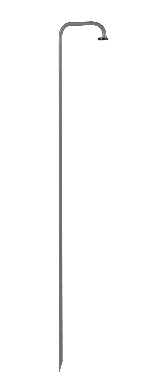 Luminaire - Lampadaires - Pied à planter pour lampes Balad / H 159 cm - Fermob - Gris orage - Acier peint