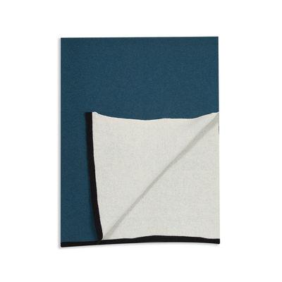 Interni - Tessili - Plaid Double jeu - / Lana - 130 x 170 cm di Maison Sarah Lavoine - Blu Sarah / Gelsomino - Lana