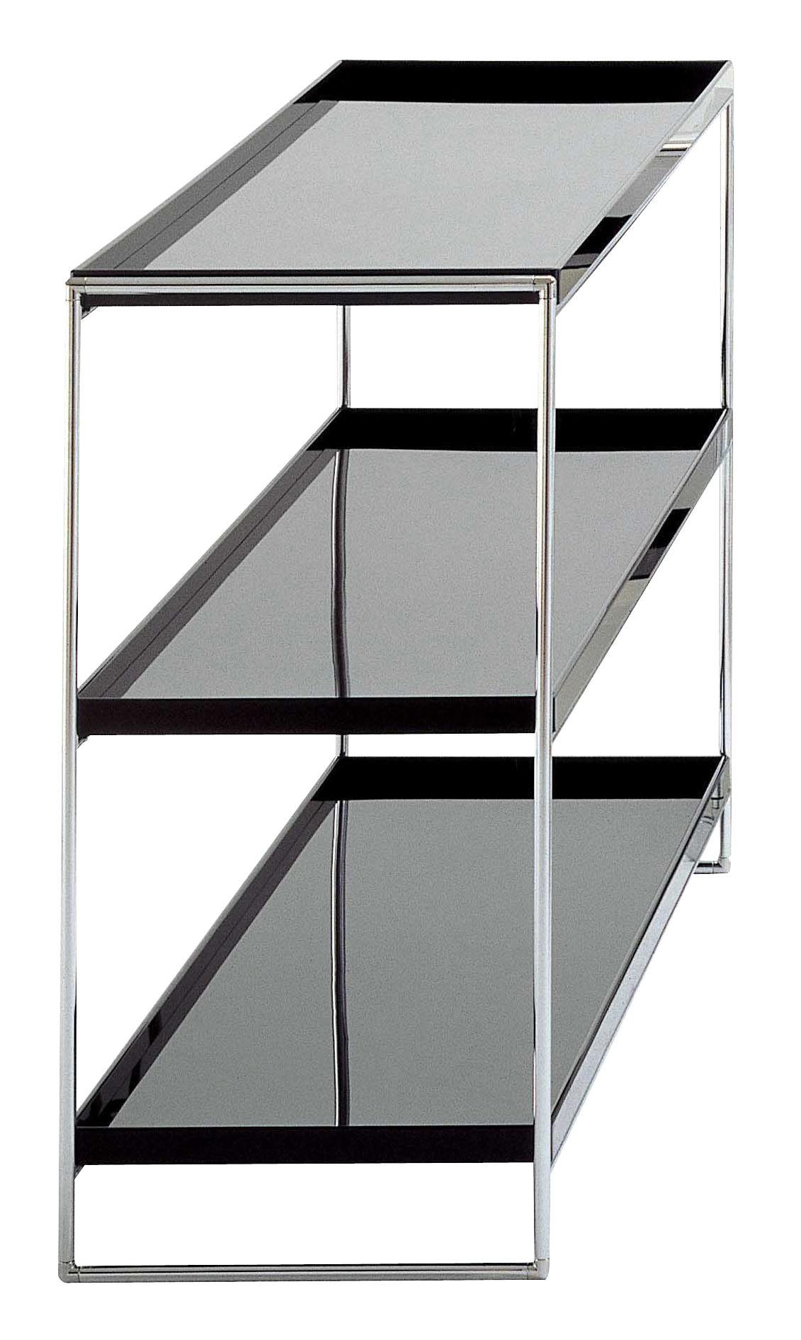 Möbel - Regale und Bücherregale - Trays Regal - Kartell - Schwarz - verchromter Stahl