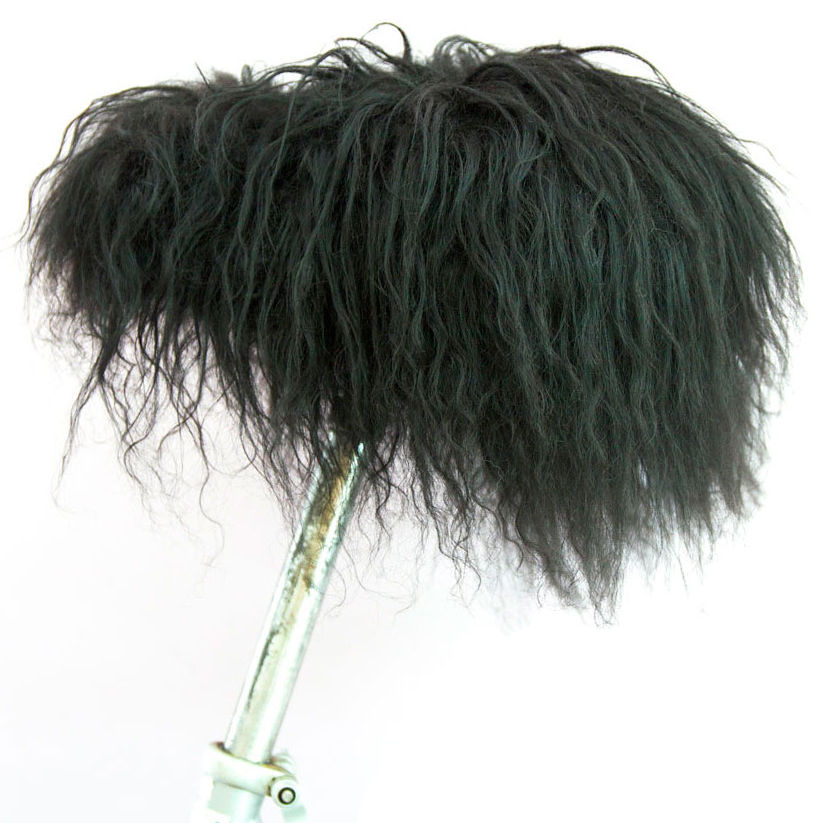 Accessories - Home Accessories - Moumoute Saddle cover - Natural sheepskin by FAB design - Black - Sheep skin