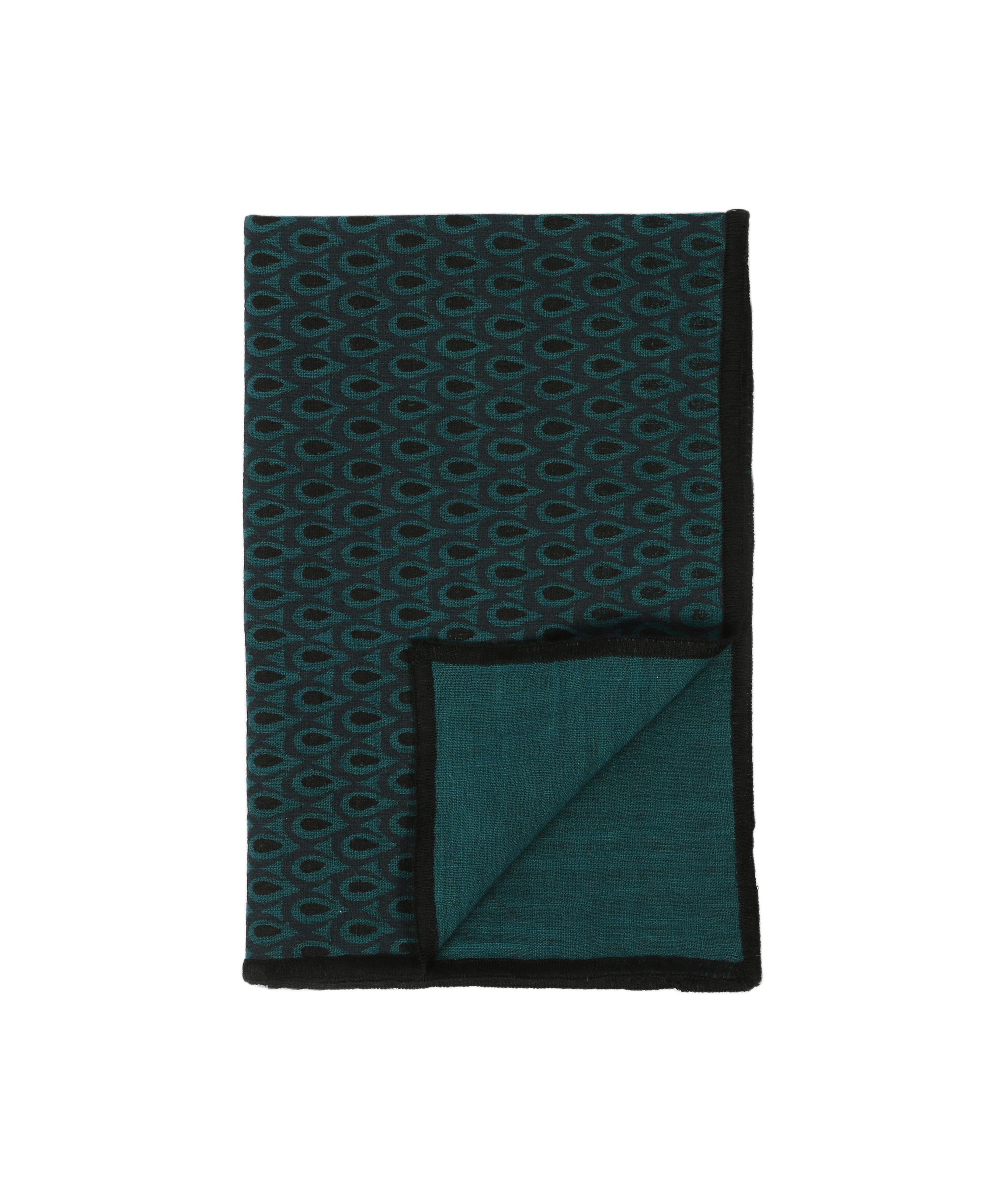 Arts de la table - Nappes, serviettes et sets - Serviette de table Zofia / 45 x 45 cm - Maison Sarah Lavoine - Bleu Sarah - Coton