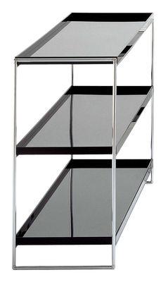 Furniture - Bookcases & Bookshelves - Trays Shelf by Kartell - Black - Chromed steel