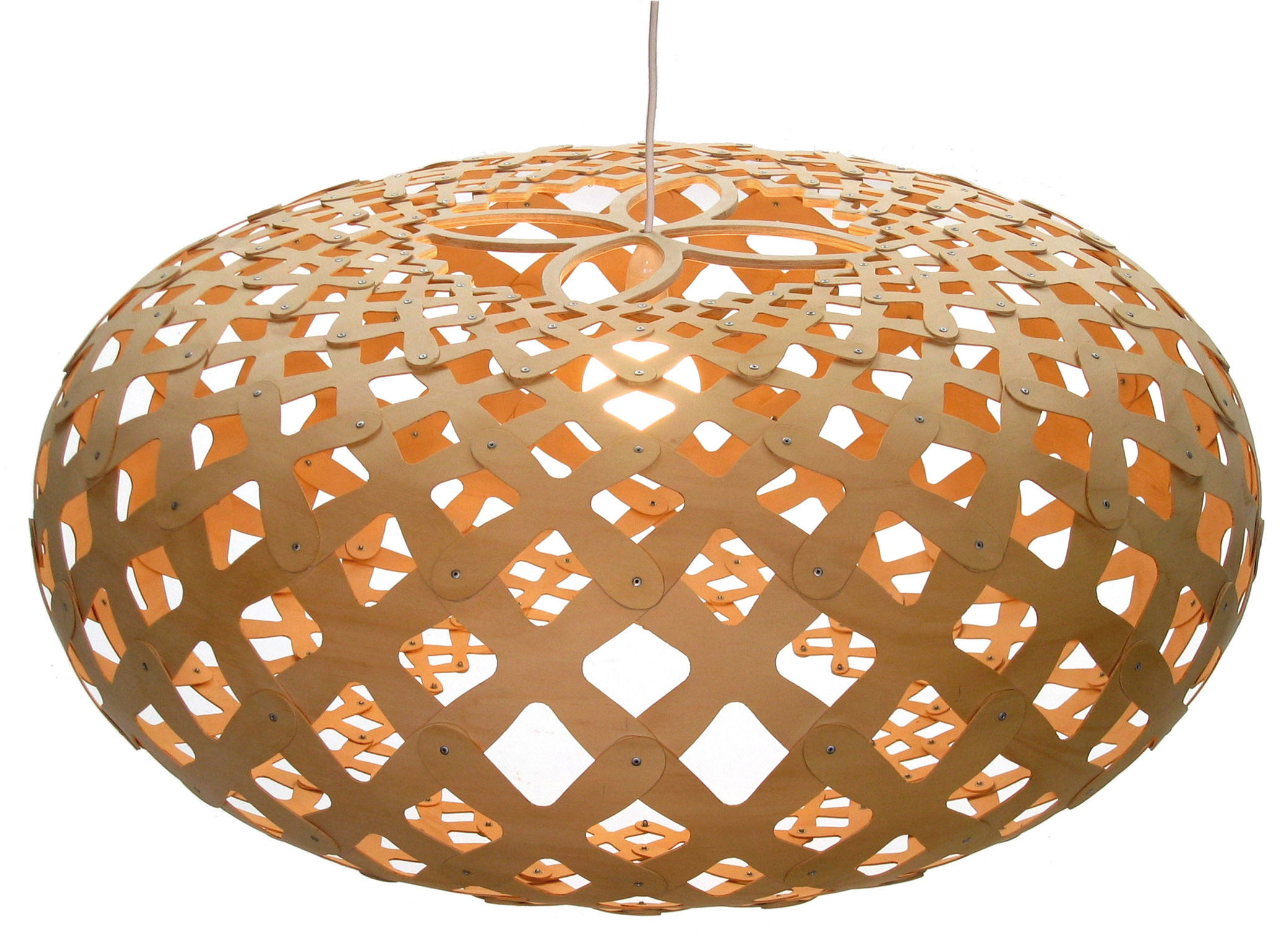 Illuminazione - Lampadari - Sospensione Kina - Ø 80 cm di David Trubridge - Legno naturale - Ø 80 cm - Compensato di pino