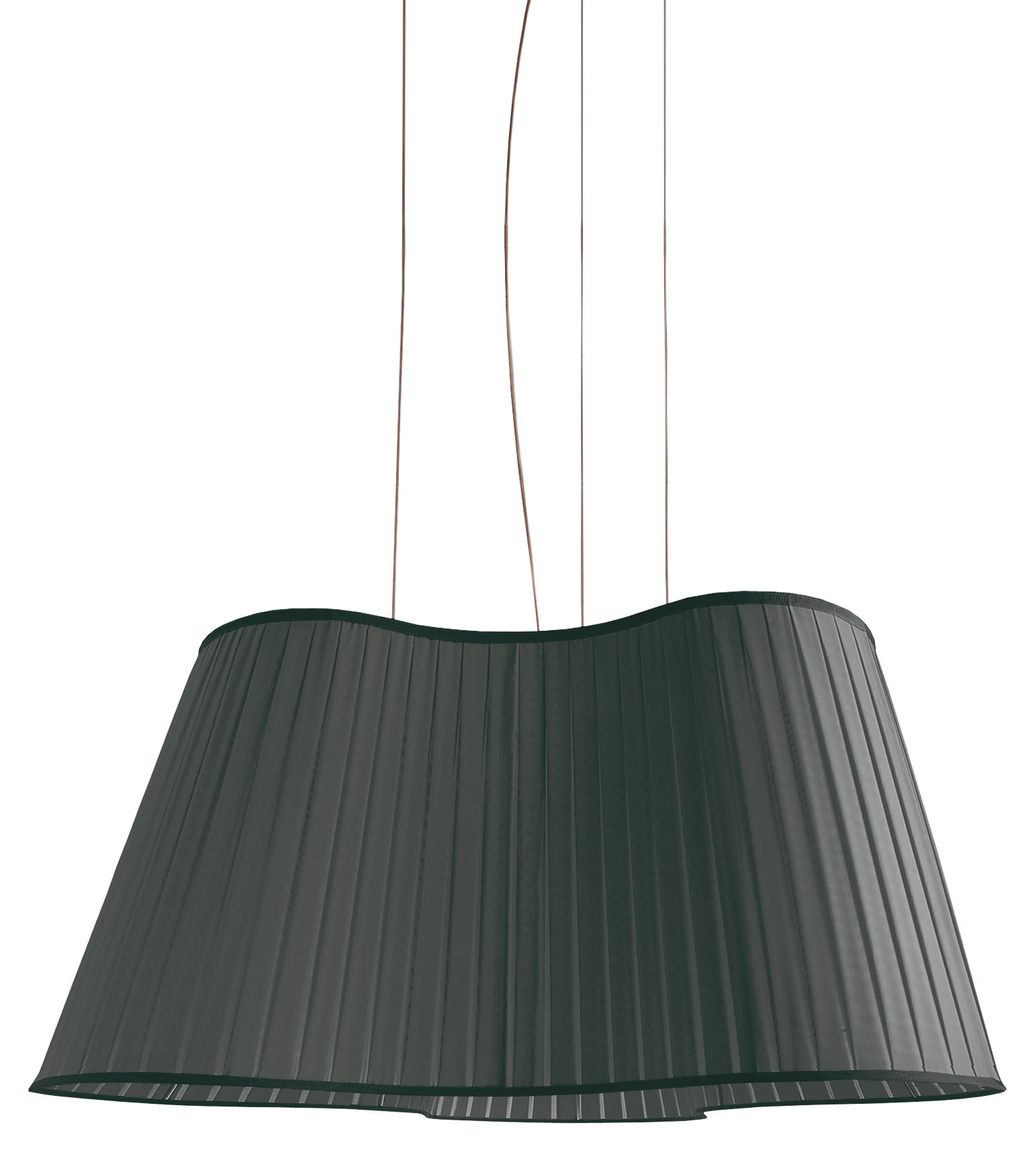 Illuminazione - Lampadari - Sospensione La Suspension Etoile - L 90 cm di Dix Heures Dix - Nero - Filo d'acciaio, Tessuto poliestere
